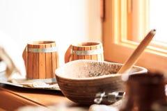 Attrezzatura d'annata della cucina Fotografia Stock