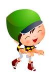 Attrezzatura da portare di baseball del ragazzo royalty illustrazione gratis