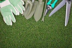 Attrezzatura degli strumenti di giardino Immagine Stock Libera da Diritti