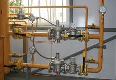 Attrezzatura del gas Immagini Stock