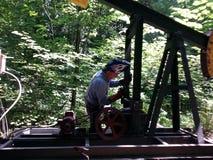 Attrezzatura del giacimento di petrolio della saldatura Immagine Stock Libera da Diritti