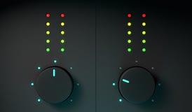 attrezzatura del miscelatore di 3d DJ Immagini Stock