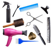 Attrezzatura del parrucchiere Fotografie Stock Libere da Diritti