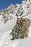 Attrezzatura dell'alpinista Fotografia Stock