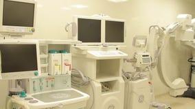 attrezzatura dell'anestesista e del C-braccio video d archivio