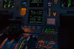 Attrezzatura della cabina di pilotaggio Fotografie Stock