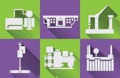 Attrezzatura della fabbrica, macchine utensili illustrazione di stock