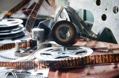 Attrezzatura della macchina fotografica della lente del film Fotografie Stock Libere da Diritti