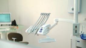 Attrezzatura dentaria della clinica video d archivio