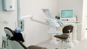 Attrezzatura dentaria della clinica archivi video