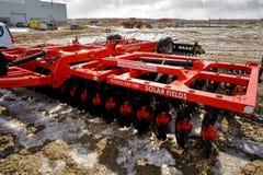 Attrezzatura di agricoltura per il trattore sulla mostra Fotografia Stock Libera da Diritti
