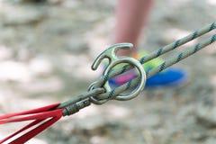 Attrezzatura di alpinismo Fotografie Stock
