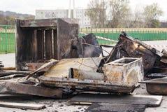 Attrezzatura di Antivari dopo fuoco Immagine Stock