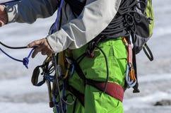 Attrezzatura di arrampicata immagine stock