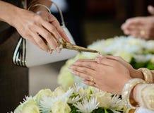 Attrezzatura di cerimonia, cerimonia di impegno in Tailandia Fotografie Stock Libere da Diritti