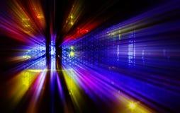 Attrezzatura di comunicazioni anteriore del supercomputer moto dell'estratto di indicazione dello stato Fotografia Stock Libera da Diritti