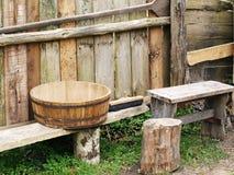 Attrezzatura di legno tradizionale della cucina Fotografia Stock Libera da Diritti