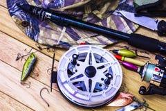 Attrezzatura di pesca Fotografie Stock Libere da Diritti