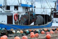 Attrezzatura di pesca nel porto fotografia stock libera da diritti