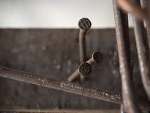 Attrezzatura di piegamento dell'acciaio fatta dei chiodi Fotografia Stock