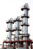 Attrezzatura di produzione del biodiesel in una fabbrica Immagini Stock