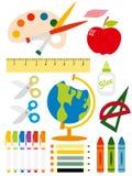 attrezzatura di scuola Immagini Stock Libere da Diritti