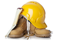 Attrezzatura di sicurezza della costruzione Fotografie Stock