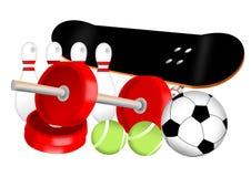 Attrezzatura di sport Immagini Stock Libere da Diritti