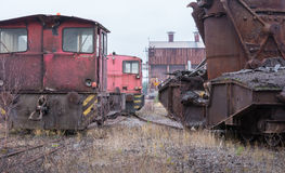Attrezzatura di trasporto industriale abbandonata Immagine Stock Libera da Diritti