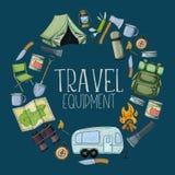 Attrezzatura di turismo e di campeggio Immagine Stock