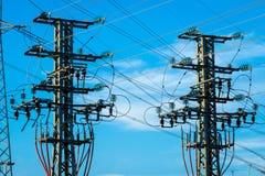 Attrezzatura di un'alta tensione delle reti elettriche Fotografia Stock Libera da Diritti