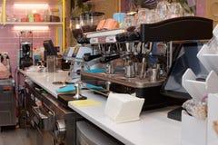 Attrezzatura di un caffè Immagine Stock