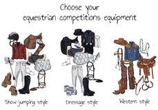 Attrezzatura equestre dei concorsi royalty illustrazione gratis