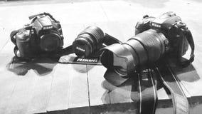 Attrezzatura fotografica di Nikon fotografia stock libera da diritti