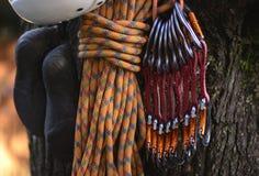 Attrezzatura II di arrampicata immagini stock