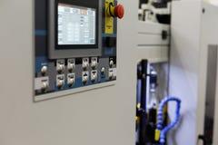 Attrezzatura industriale moderna con il pannello di controllo di CNC Immagine Stock Libera da Diritti