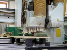 Attrezzatura industriale per produzione della mobilia fotografia stock libera da diritti