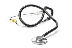 Attrezzatura medica dallo stetoscopio Fotografia Stock