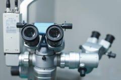 Attrezzatura medica dell'optometrista utilizzata per gli esami di occhio fotografie stock