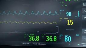 Attrezzatura medica nell'ospedale, indicazioni su un ordinato in un istituto ospedaliero video d archivio