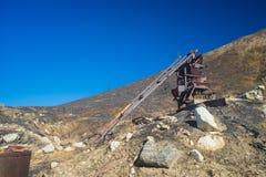 Attrezzatura mineraria in California Immagini Stock