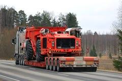 Attrezzatura mineraria di trasporti dei semi di Volvo Fotografie Stock Libere da Diritti