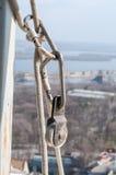 Attrezzatura per alpinismo industriale Fotografia Stock Libera da Diritti