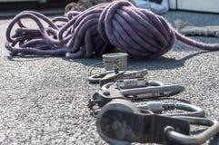 Attrezzatura per alpinismo industriale Fotografia Stock
