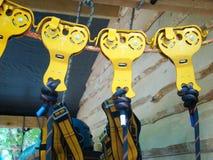Attrezzatura per alpinismo industriale Immagini Stock Libere da Diritti