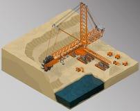 Attrezzatura per industria di alto-estrazione mineraria Fotografia Stock