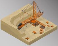 Attrezzatura per industria di alto-estrazione mineraria Fotografie Stock