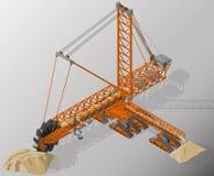 Attrezzatura per industria di alto-estrazione mineraria Immagini Stock