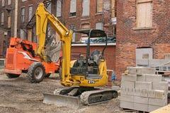 Attrezzatura per l'edilizia al sito di lavoro Immagine Stock Libera da Diritti