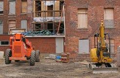 Attrezzatura per l'edilizia al sito di lavoro Fotografia Stock Libera da Diritti